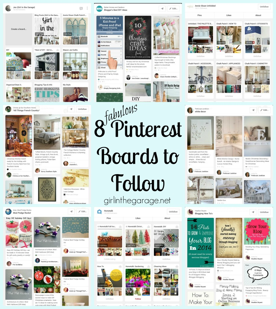 8 fabulous diy and home pinterest boards to follow girl in the garage Home decor pinterest boards to follow