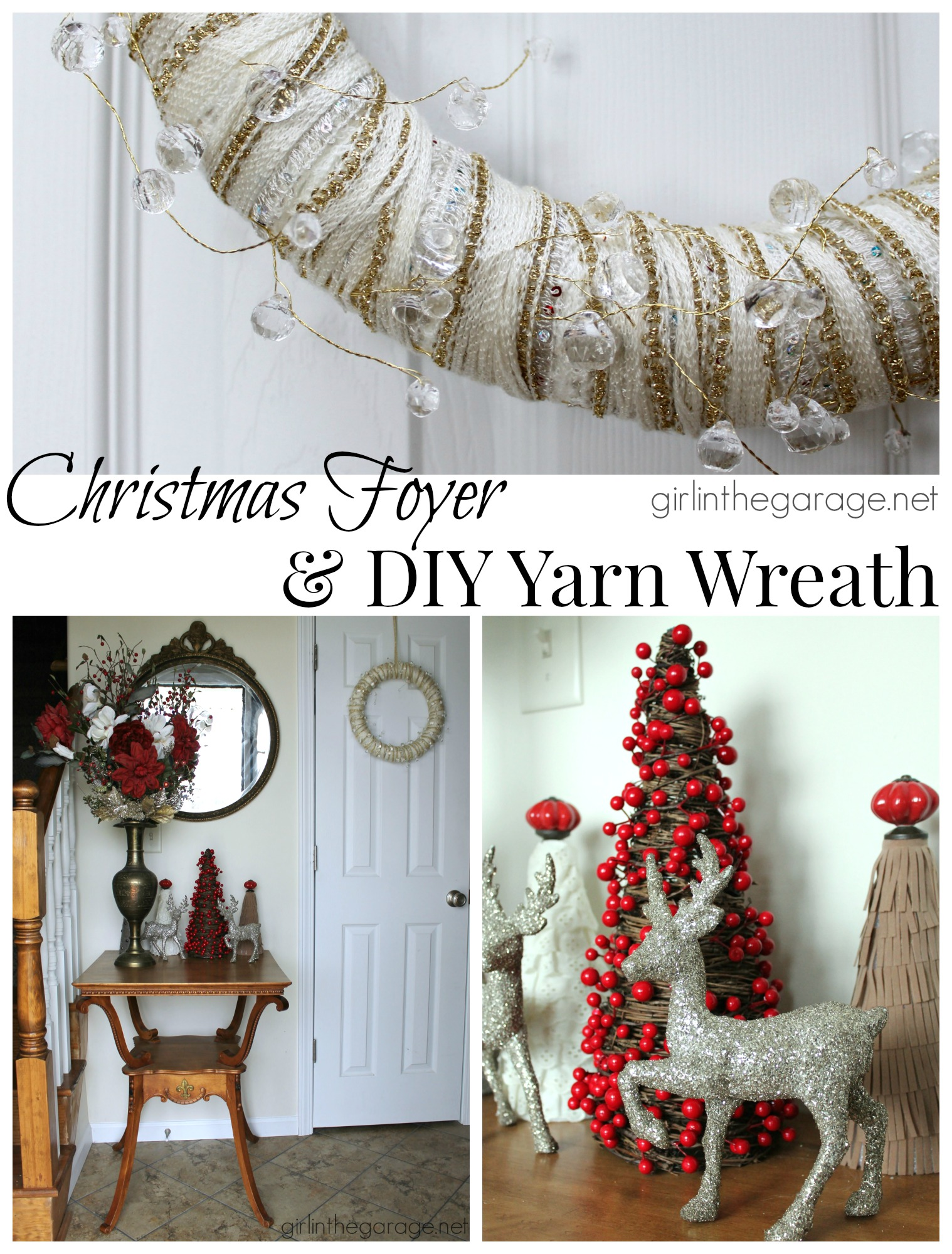 Foyer Diy Guide : Christmas foyer and diy yarn wreath welcome home tour
