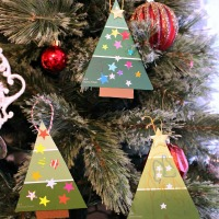 Easy Paint Chip Christmas Tree Ornament