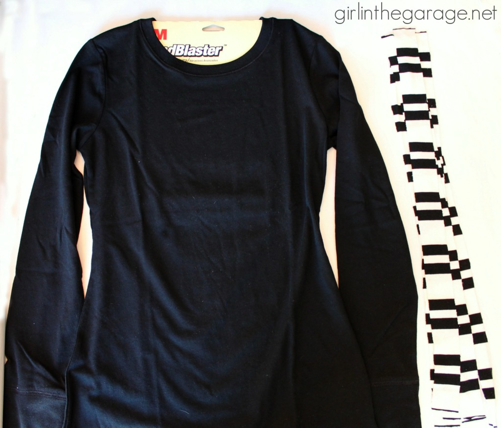 Tutorial for how to make a DIY ruffle shirt - Rock Your Knockoff Pinterest Edition.  girlinthegarage.net