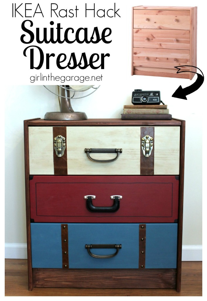 Suitcase Dresser - IKEA RAST Hack - girlinthegarage.net
