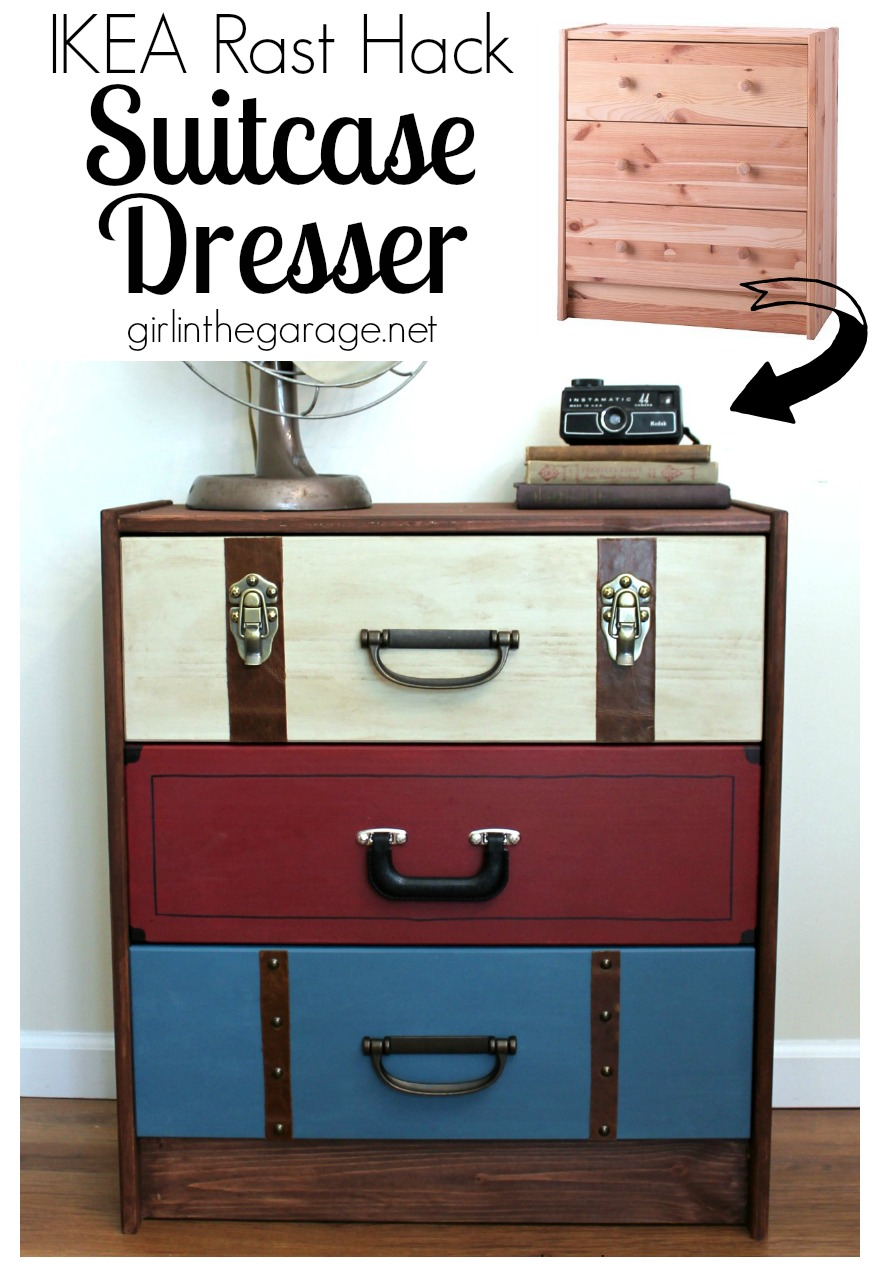 Ikea Rast A Suitcase Dresser Makeover From An Ikea Chest Of Drawers Girlinthegarage