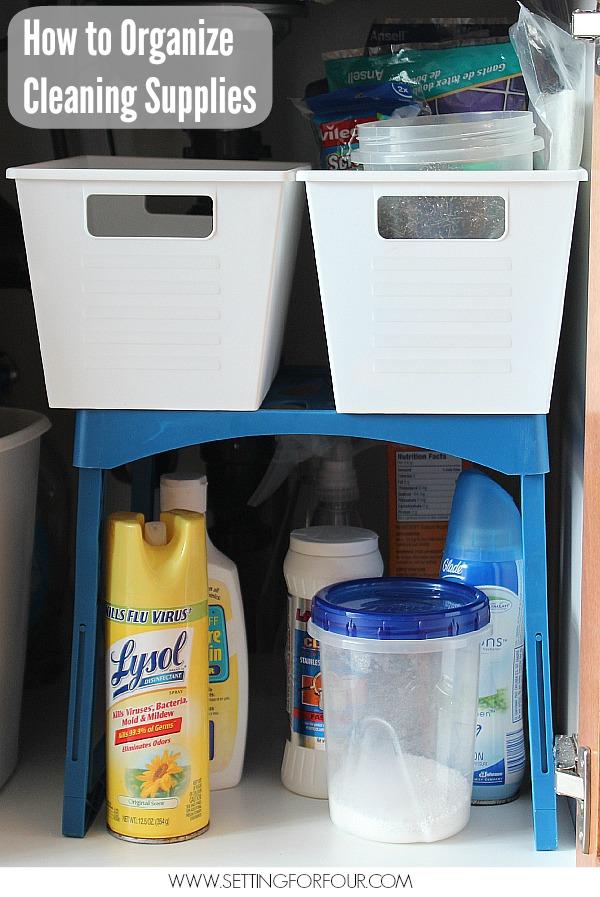SFF-organize-kitchen-cleaning-supplies | Girl in the Garage®