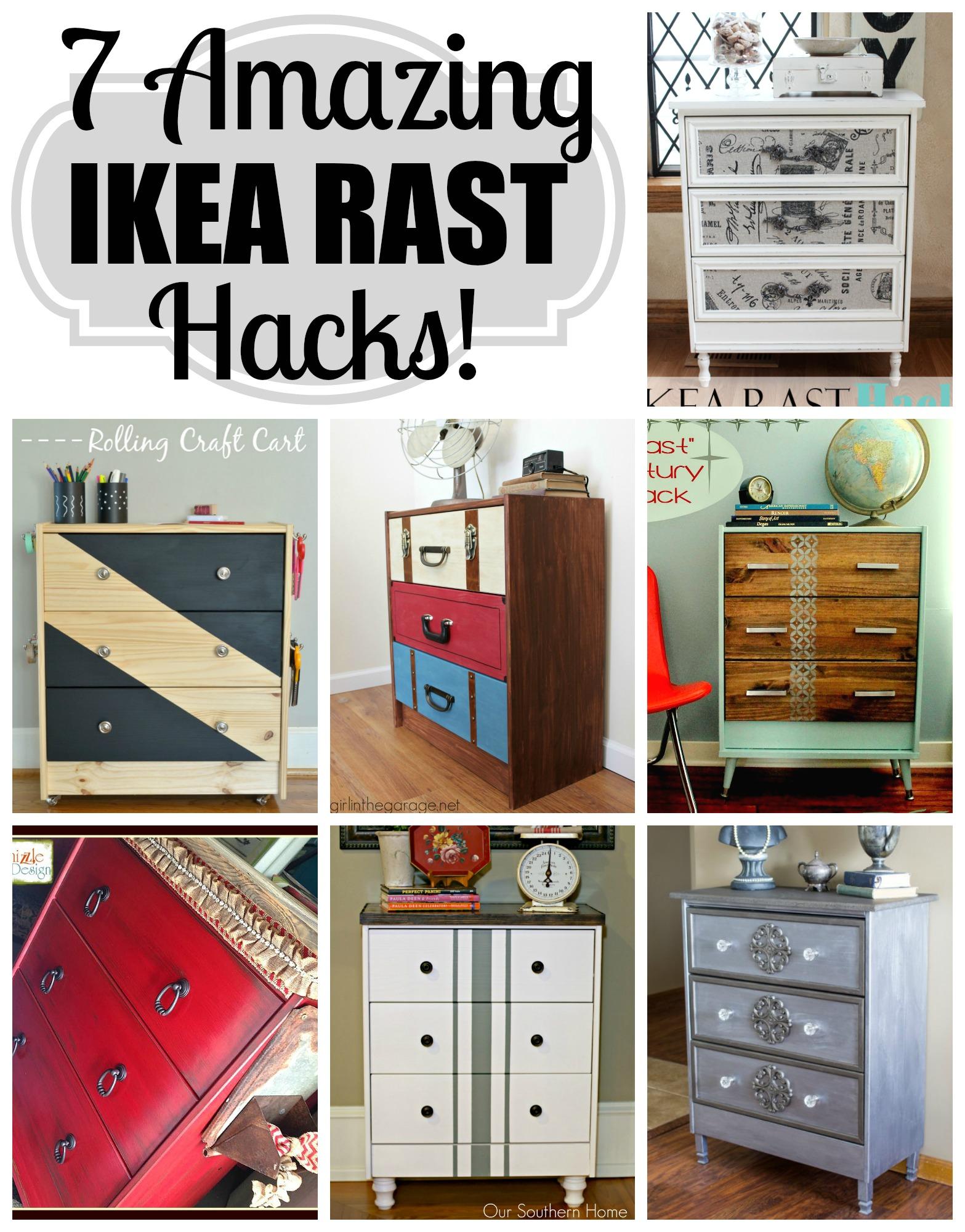 Ikea Rast Kommode suitcase dresser ikea rast hack in the garage