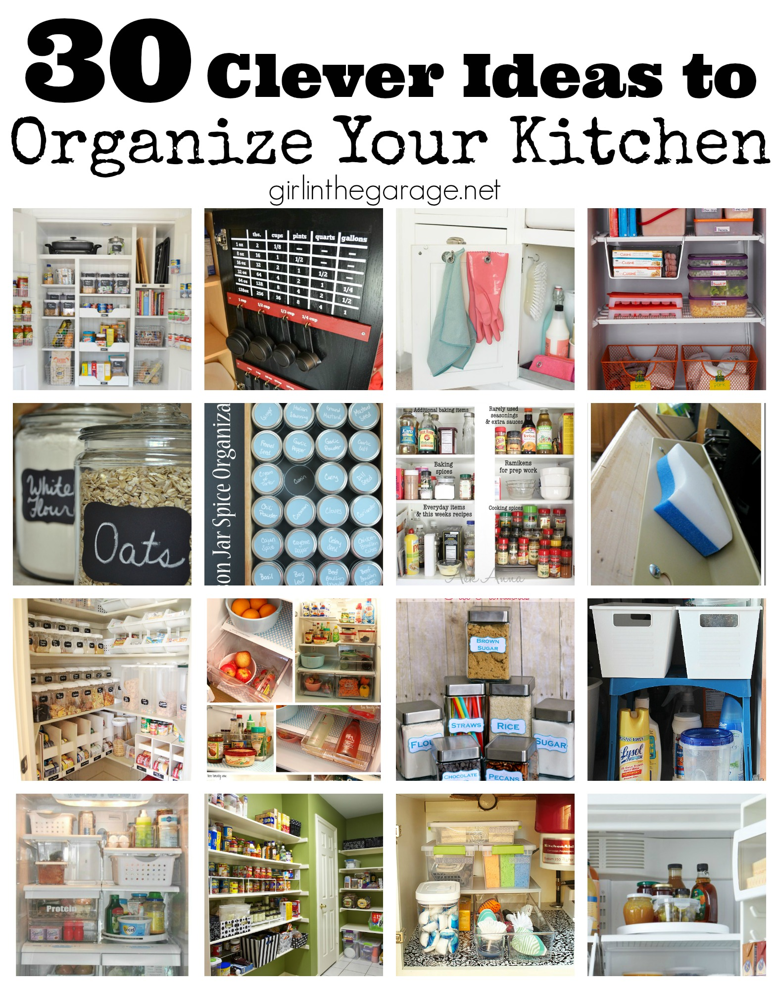 30 clever ideas to organize your kitchen | girl in the garage®