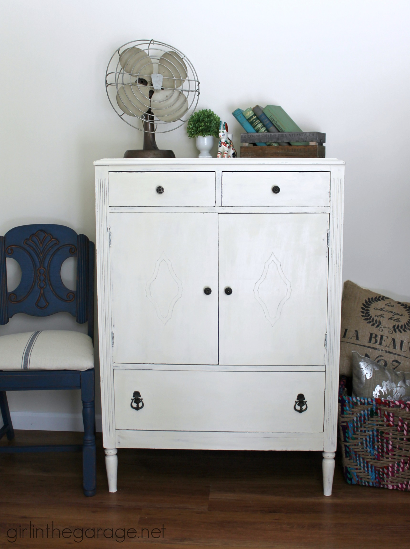 Antique Dresser In Old White Chalk Paint Girl In The Garage 174