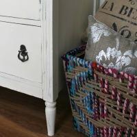 Antique Dresser in Old White Chalk Paint