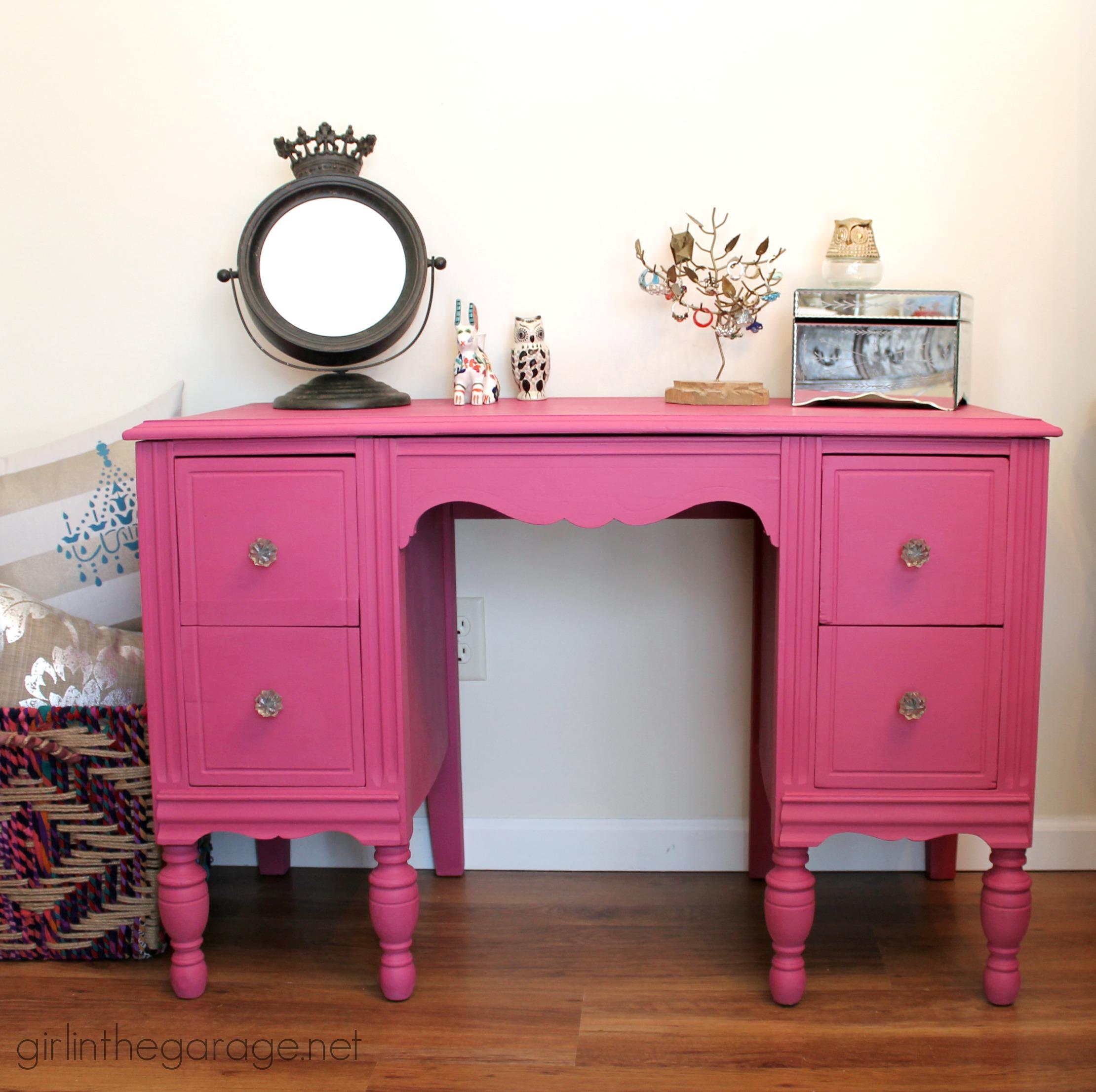 Boho Bedroom Decor Custom Pink Chalk Paint Vanity Girl In The Garage 174