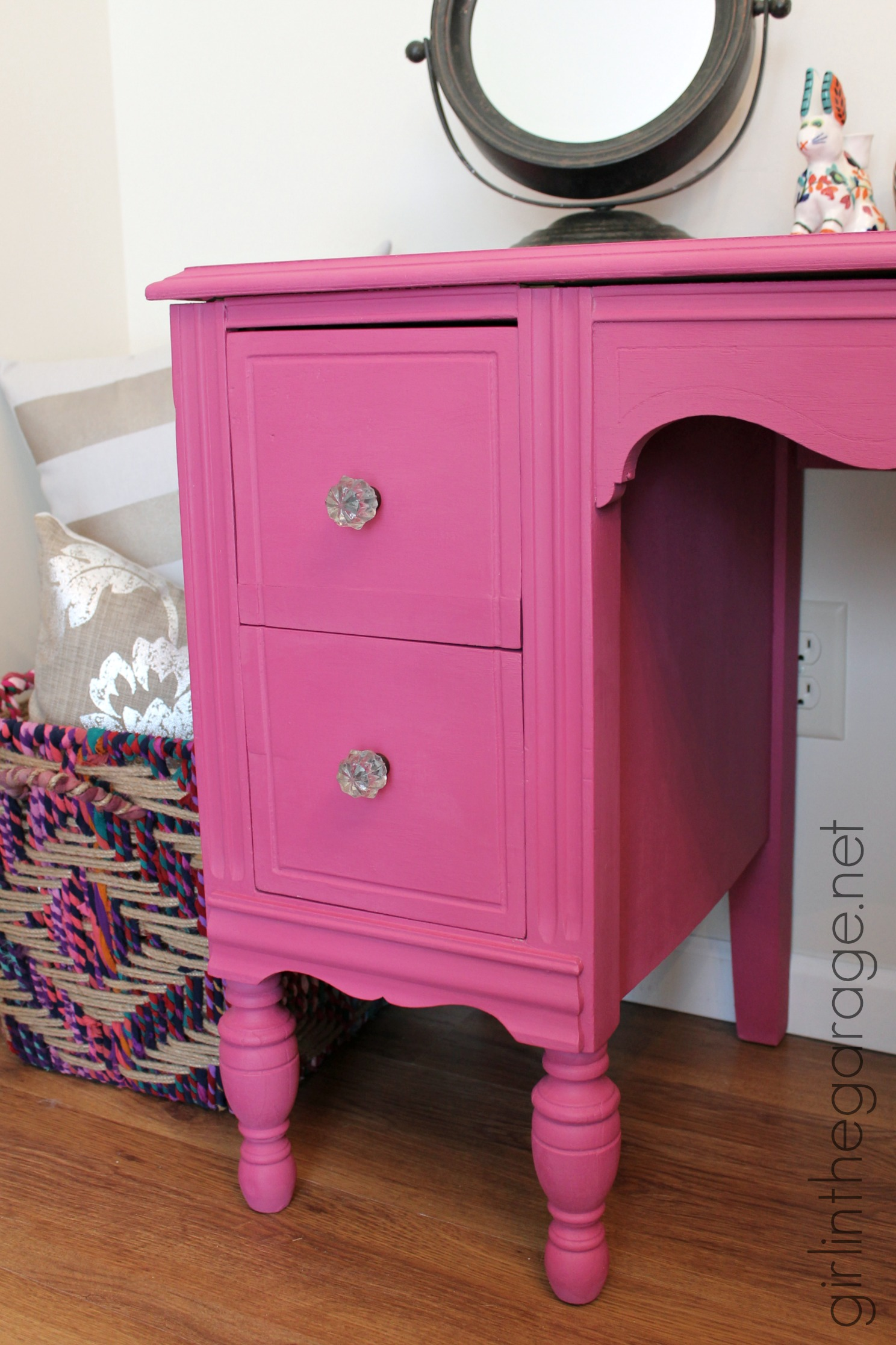 Custom Pink Chalk Paint Vanity