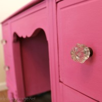 Custom Pink Chalk Paint Vanity
