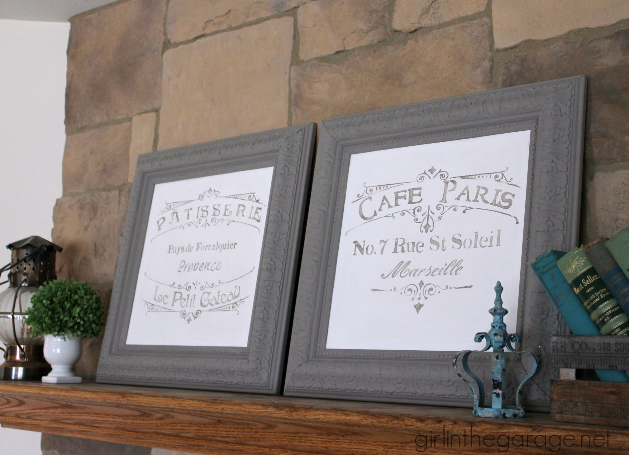Painted Goodwill Picture Frames