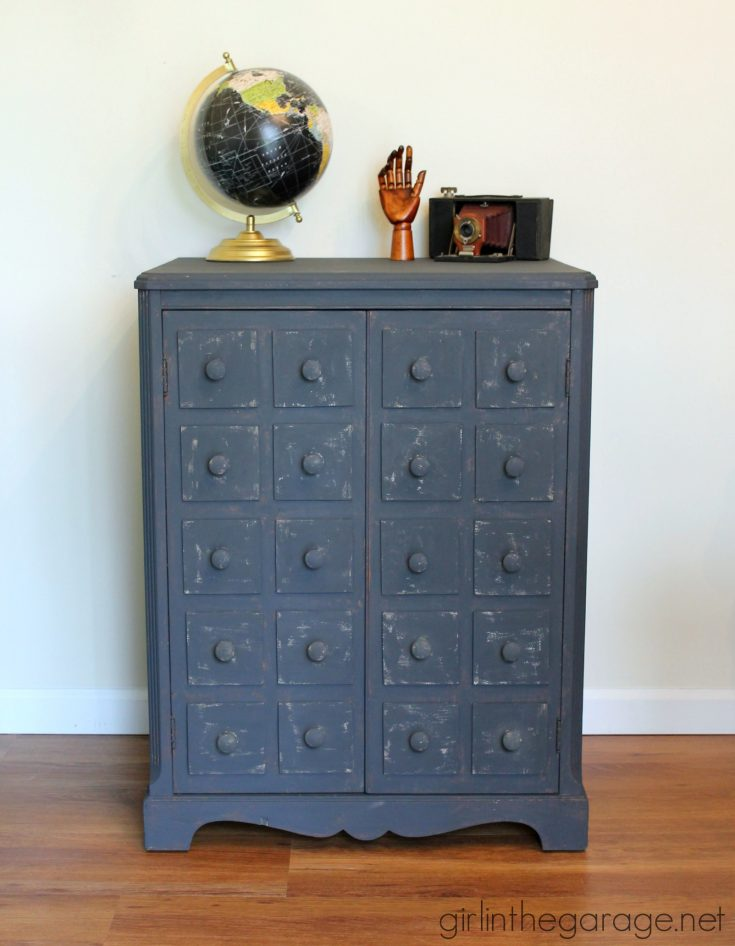 Faux Apothecary Cabinet - Pottery Barn Inspired Furniture Makeover