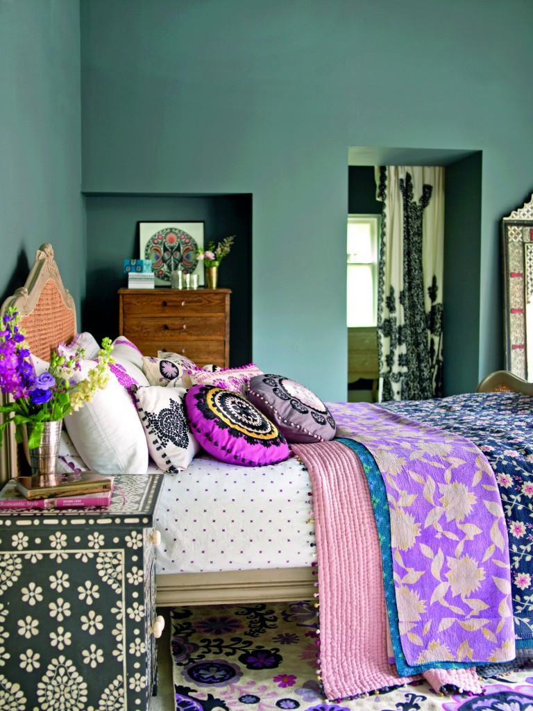 Boho bedroom - photo from Annie Sloan's Room Recipes for Style and Color