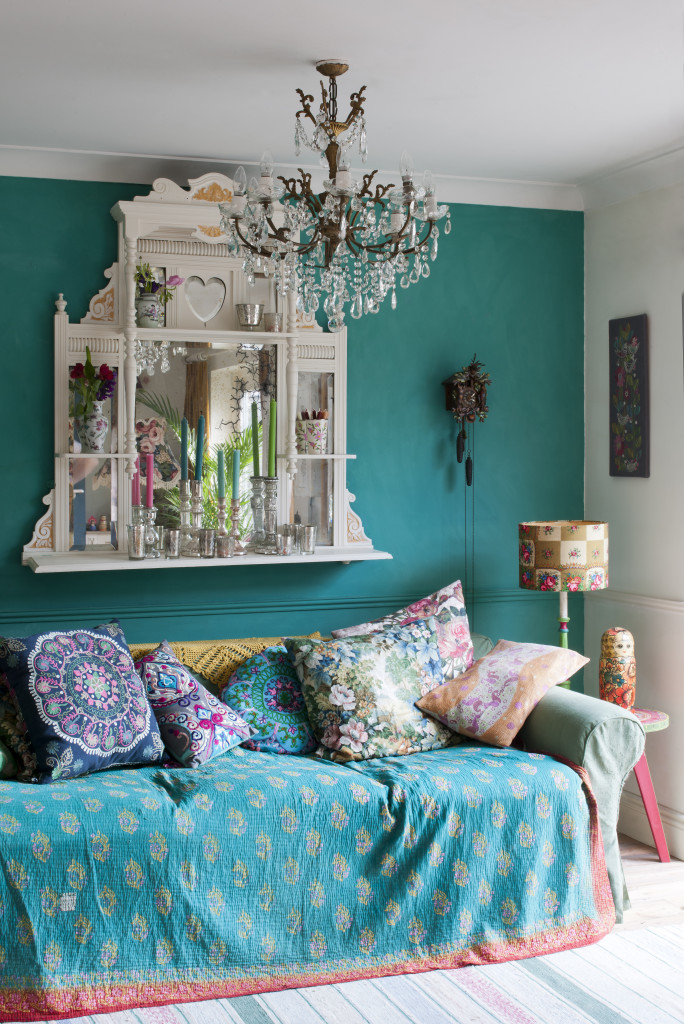 Boho living room - photo from Annie Sloan's Room Recipes for Style and Color