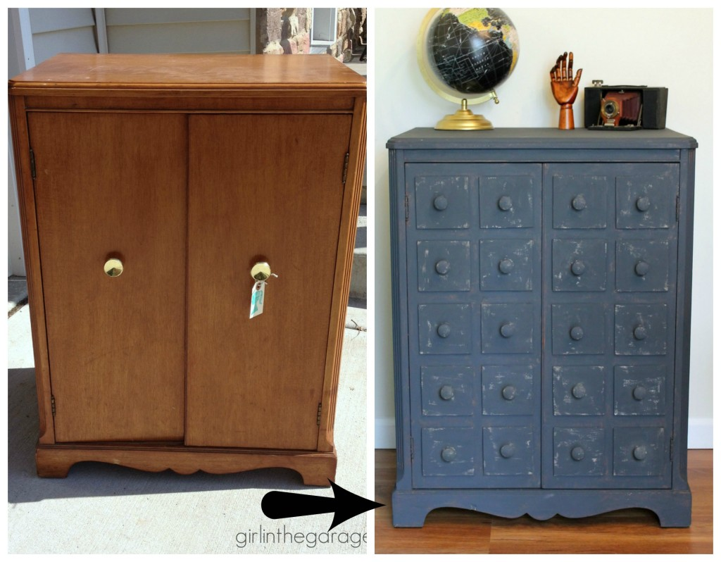 Pottery Barn Inspired Faux Apothecary Cabinet Makeover - Girl in the Garage