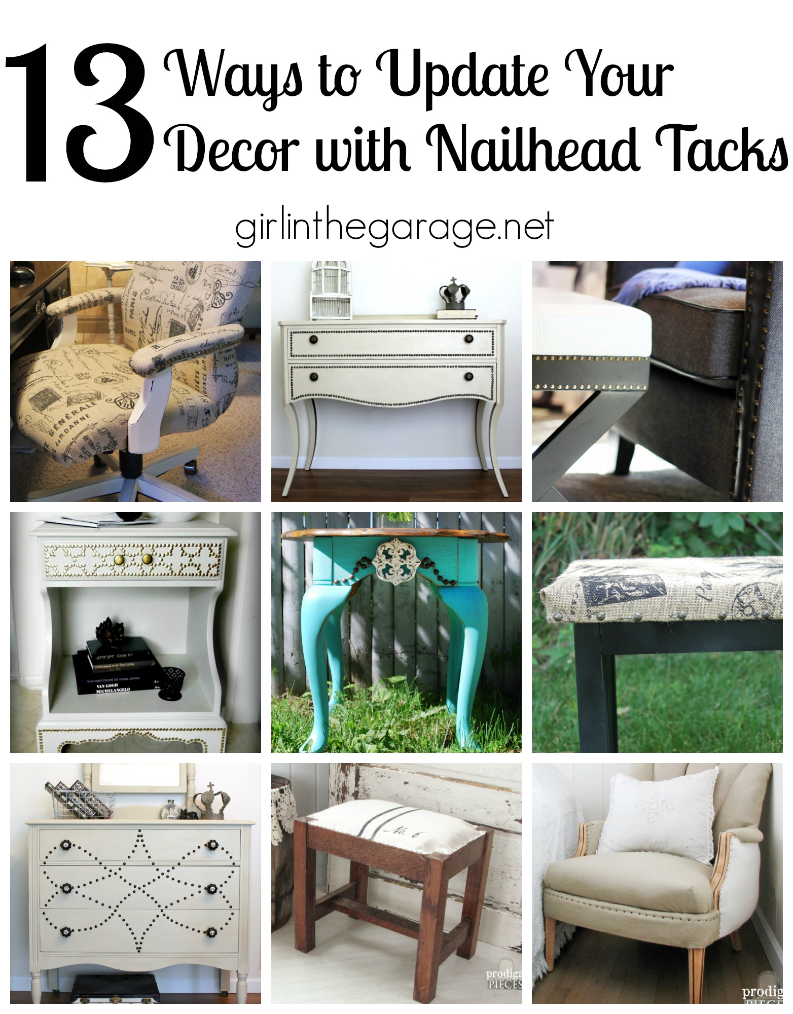13 ways to update furniture with nailhead tacks - girlinthegarage.net