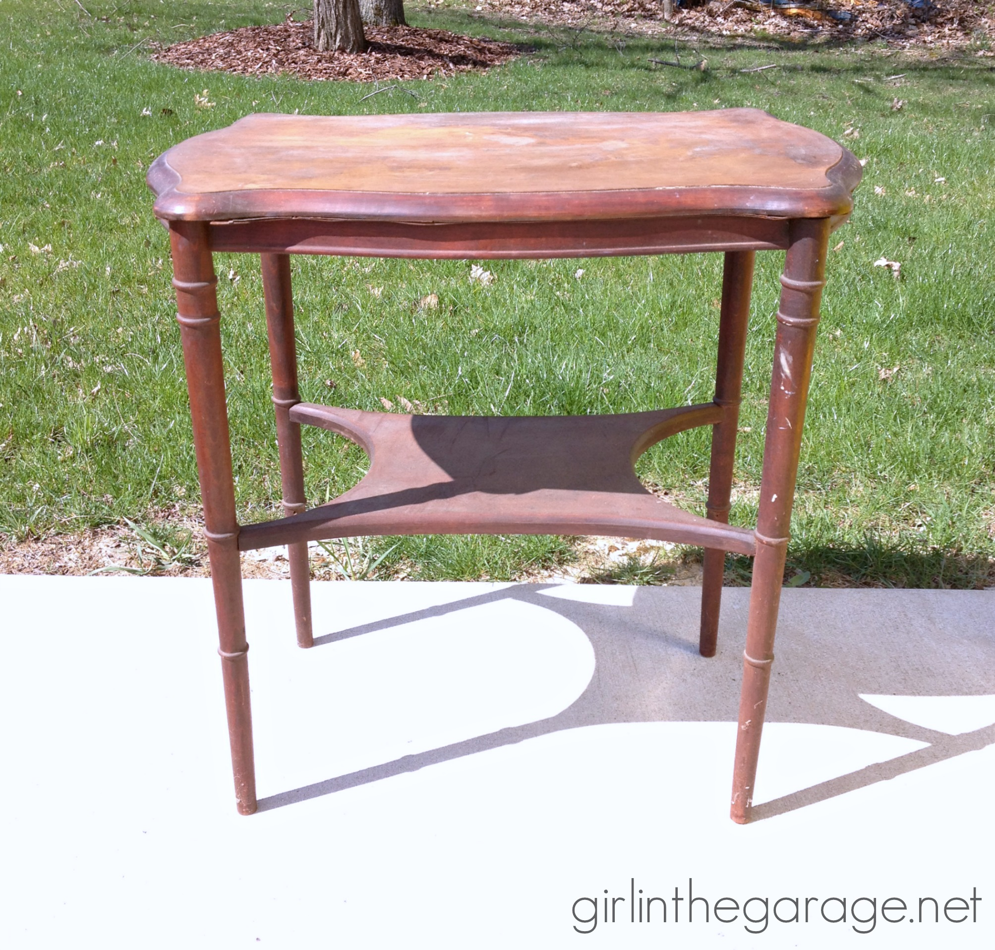 French Love Letter Table Makeover  Girl In The Garage
