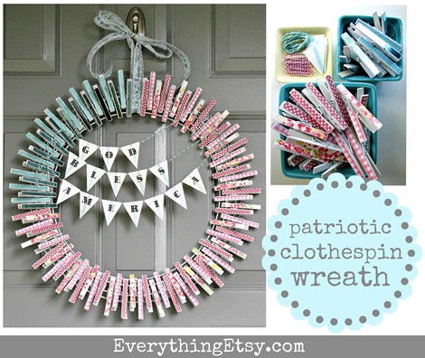Clothespin Wreath - Everything Etsy