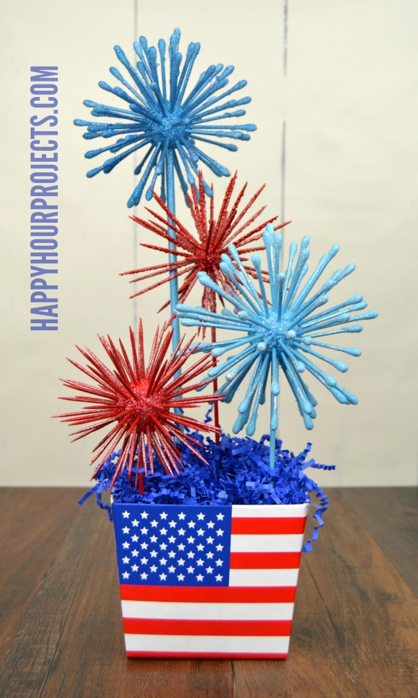 Fireworks Centerpiece - Happy Hour Projects
