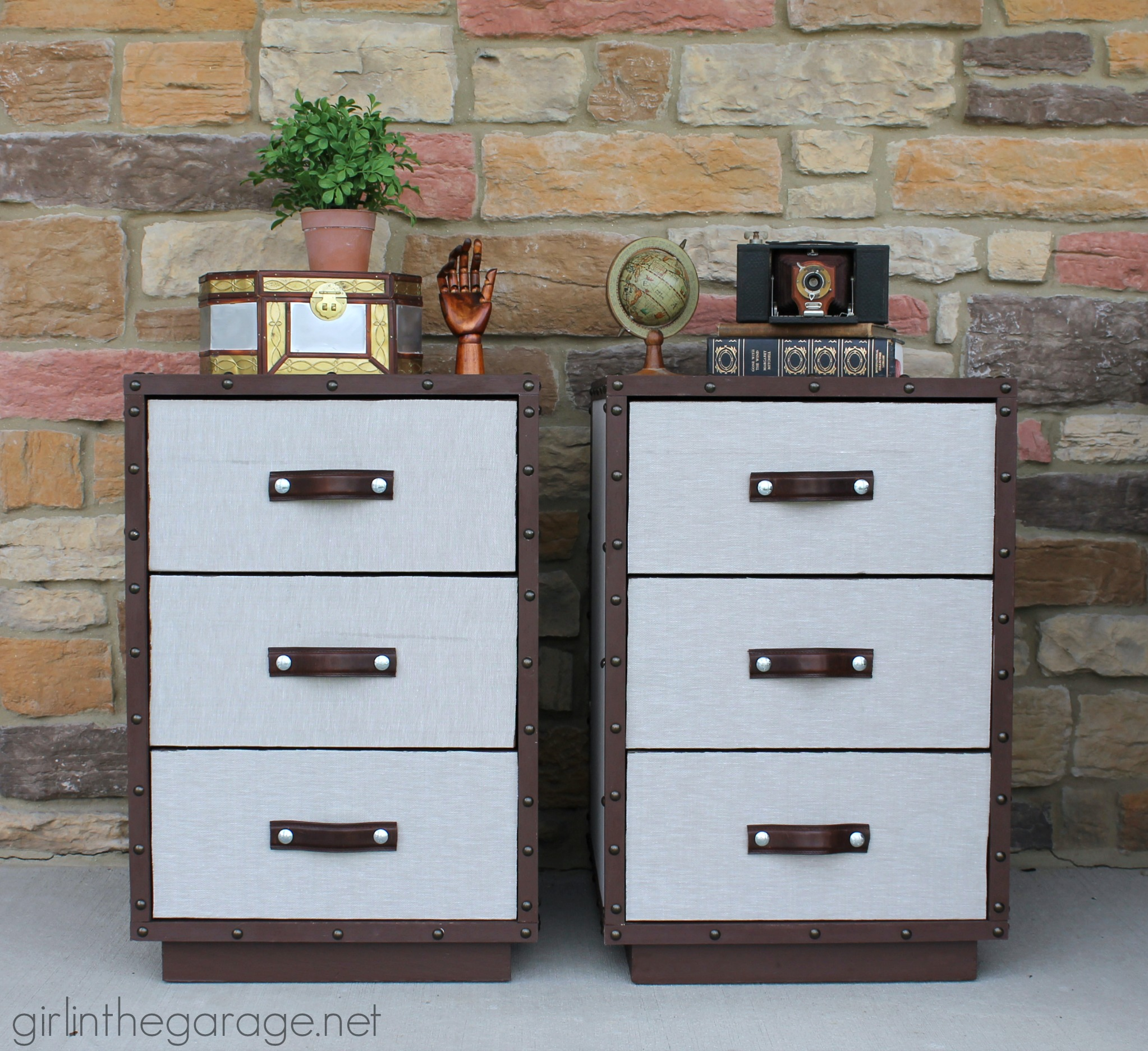 Ordinaire Two Nightstands Are Transformed Into Pottery Barn Inspired DIY Trunk  Bedside Tables For Themed Furniture Makeover ...