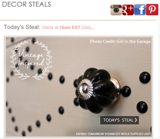 Girl in the Garage - furniture makeover with Decor Steals knobs