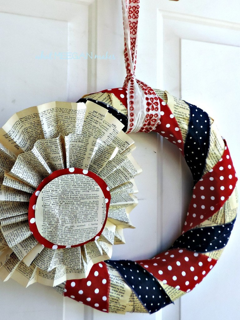 Book Page Wreath - What Meegan Makes