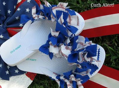 Patriotic Flip Flops - Curb Alert!
