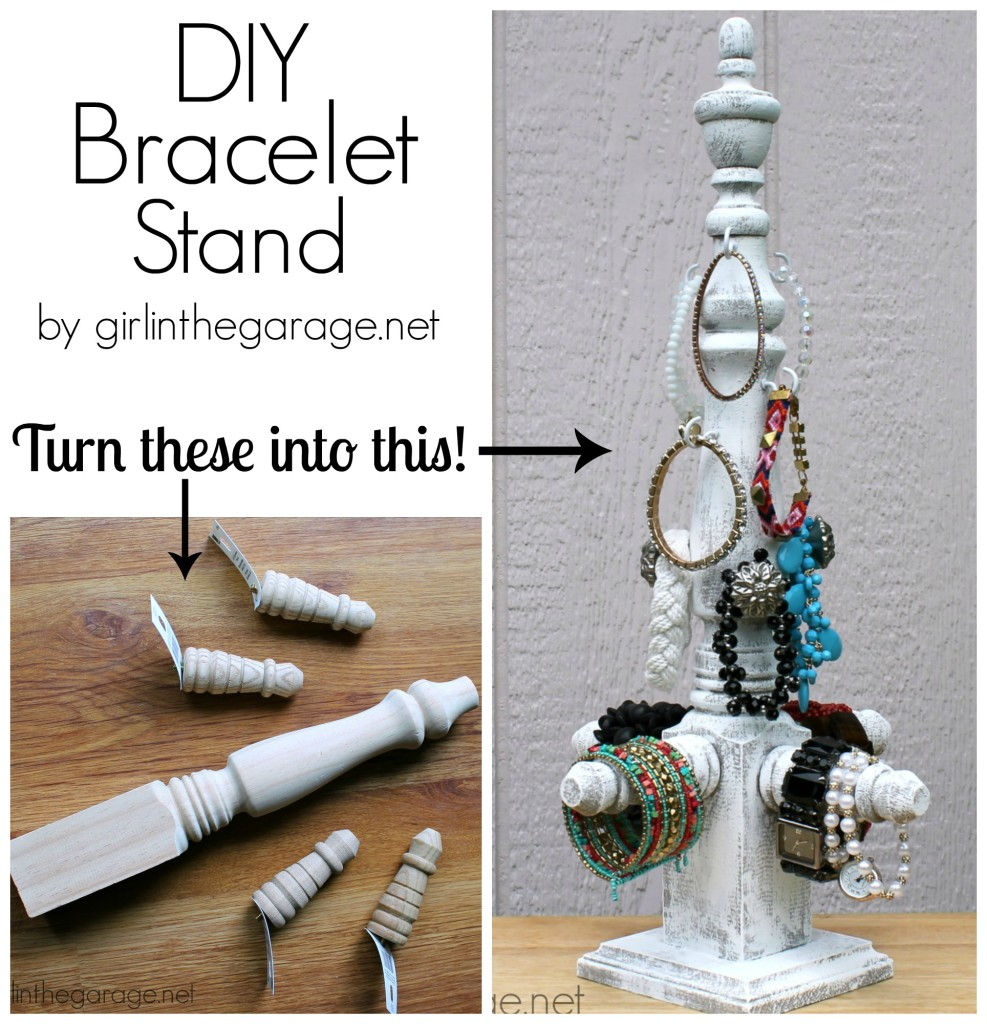 DIY Bracelet Stand - girlinthegarage.net