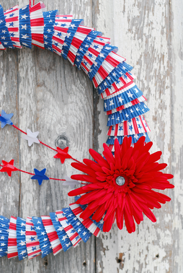 Cupcake Liner Wreath - eHow
