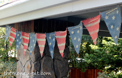 Patriotic Burlap Banner - The Kim Six Fix