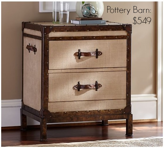 Pottery Barn Redford Trunk Bedside Table