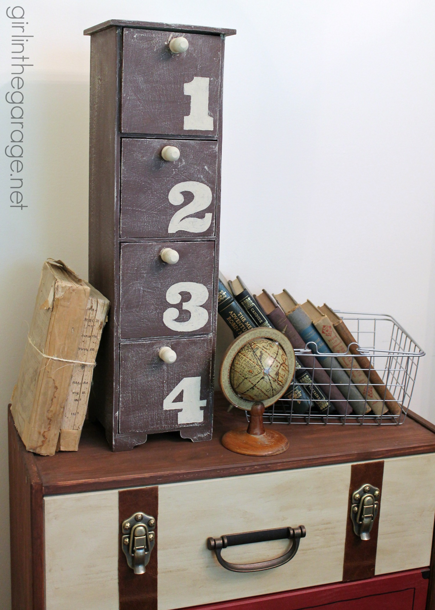 Weathered storage tower makeover - Girl in the Garage