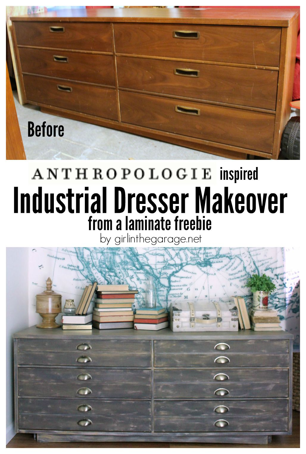 laminate furniture makeover. How A Free Dresser Was Transformed Into An Anthropologie Cabinet Knockoff That Retails For Over $1600 Laminate Furniture Makeover