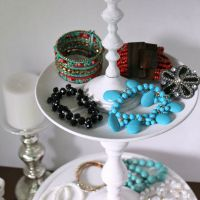 DIY Tiered Display Stand from Thrift Store Pieces – Trash to Treasure
