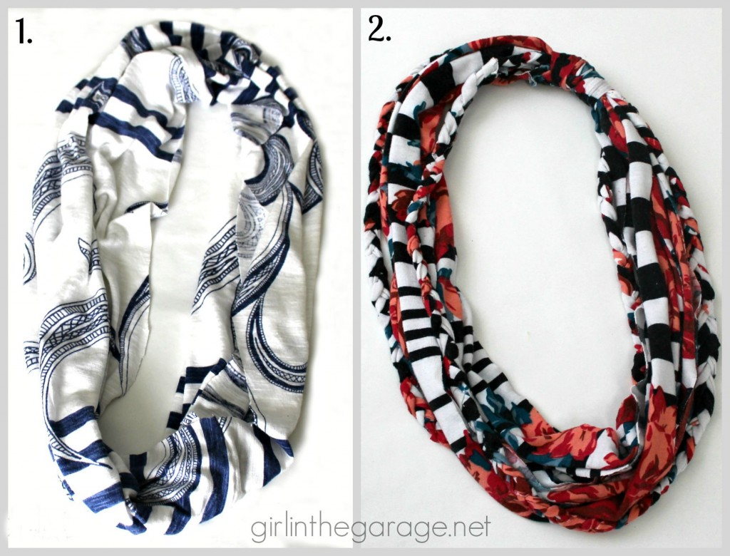 DIY Infinity Scarves - girlinthegarage.net
