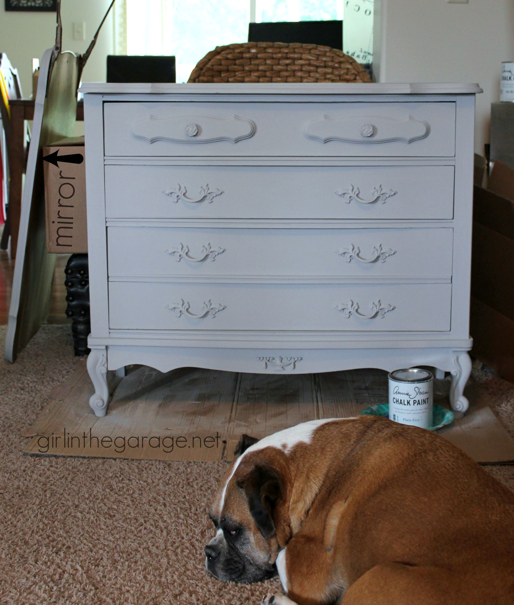 French Provincial Dresser Makeover With Chalk Paint® And Cherry Blossoms  Stencil. #MadeItMyOwn Girlinthegarage