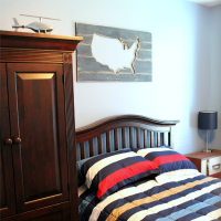 Boy's Bedroom Makeover Reveal + Tips for Painting Walls
