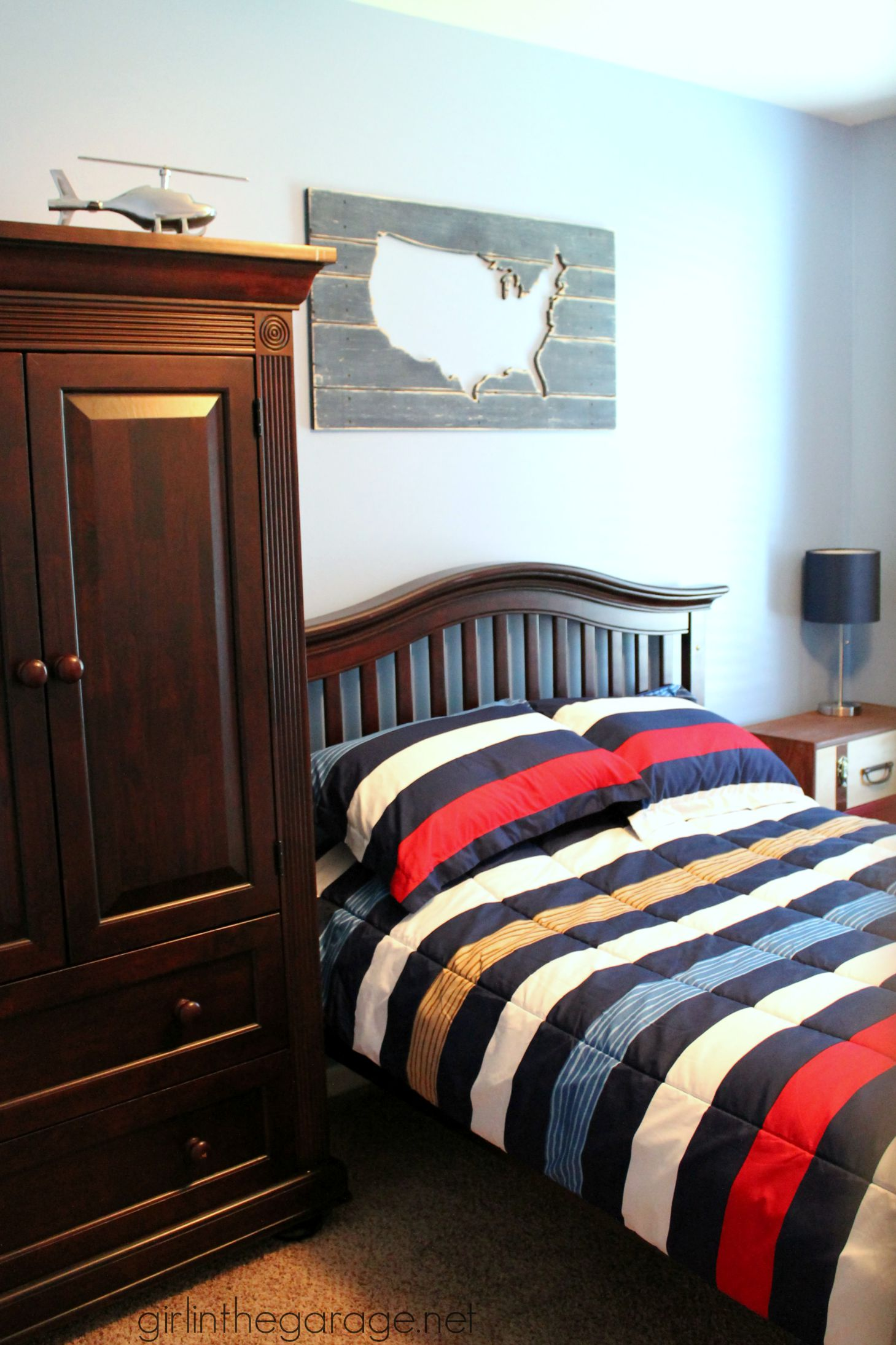 Red White and Blue Bedrooms for Boys
