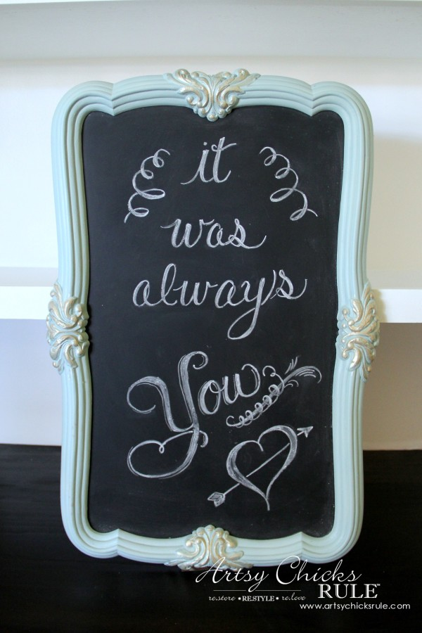 Thrifty Mirror to Chalkboard - by Artsy Chicks Rule