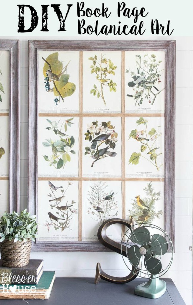 DIY Book Page Botanical Art - by Bless'er House