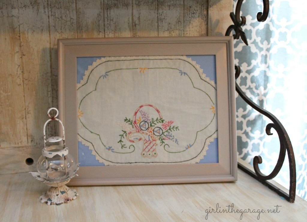 Vintage Handkerchief Art - by Girl in the Garage