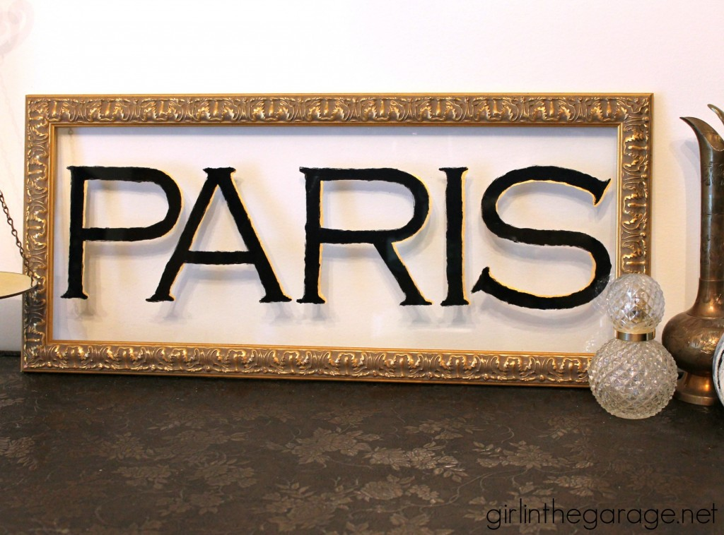 "Yard Sale Art to Glam Paris ""Window"" Sign - by Girl in the Garage"
