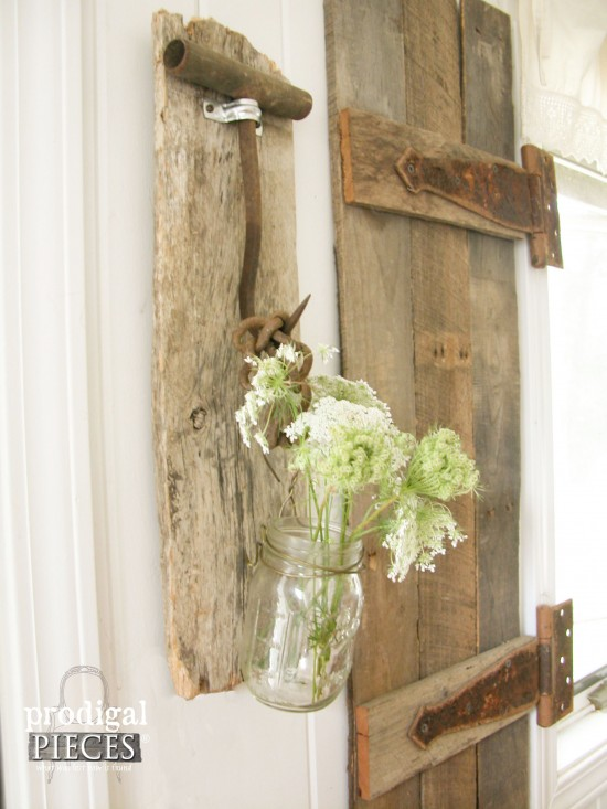 Barn Wood and Farmhouse Tools Become Rustic Decor - by Prodigal Pieces