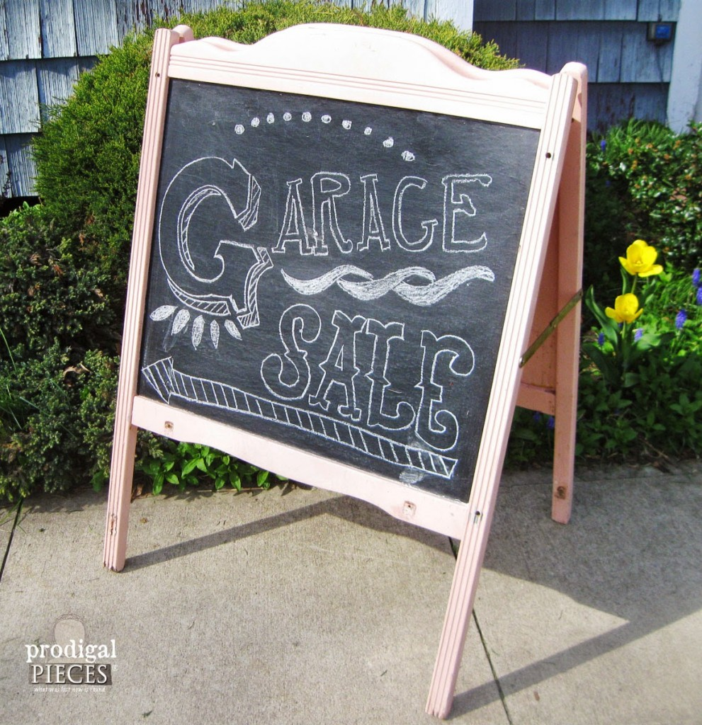 Baby Crib to Chalkboard Easel - by Prodigal Pieces