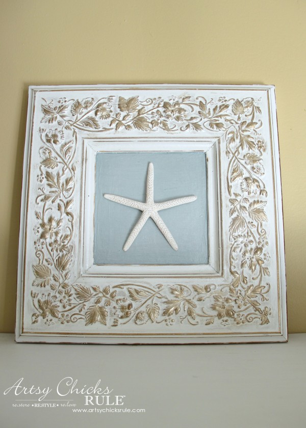 Thrifty Frame Turned Coastal Art - by Artsy Chicks Rule