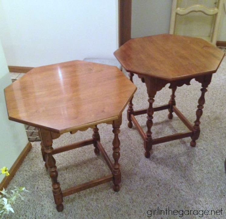 Ethan Allen tables - Recent thrifty finds while treasure hunting at yard sales and Goodwill.
