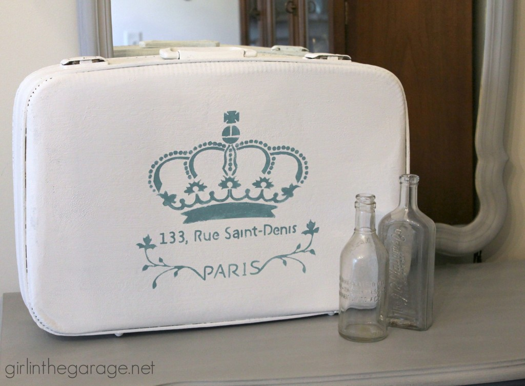 Vintage Painted Suitcase Makeover | Girl in the Garage®