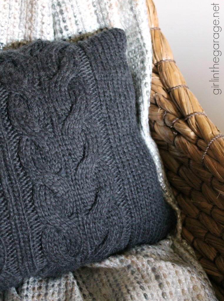 One upcycled sweater, three DIY projects - Trash to Treasure - girlinthegarage.net