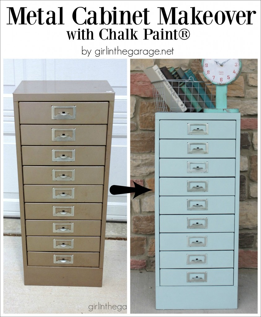 Metal Cabinets Kitchen: Painted Metal Cabinet Makeover
