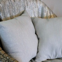 DIY Metallic Napkin Pillows